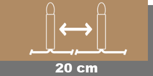 20cm-Lampenabstand