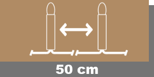 50cm-Lampenabstand