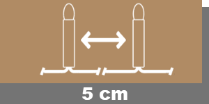 5cm-Lampenabstand