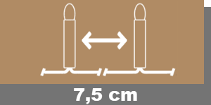 7-5cm-Lampenabstand