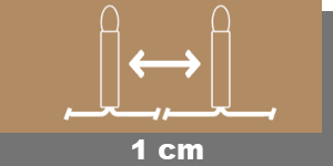 1cm-Lampenabstand