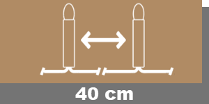40cm-Lampenabstand