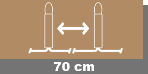 70cm-Lampenabstand