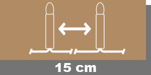 15cm-Lampenabstand