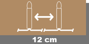 12cm-Lampenabstand